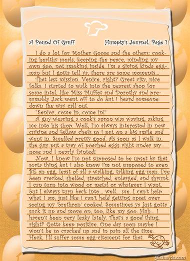 """""""A Pound Of Gruff"""": Humpty, Pg. 1"""