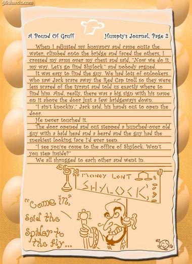 """A Pound Of Gruff"": Humpty's Journal, Pg. 2"