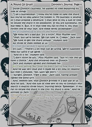 """A Pound Of Gruff"": Dorothy's Journal, Pg. 4"