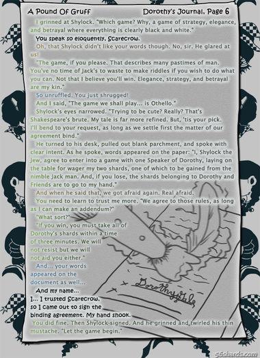 """A Pound Of Gruff"": Dorothy's Journal, Pg. 6"