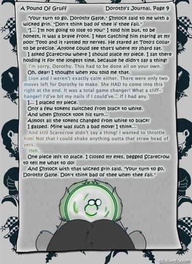 """A Pound Of Gruff"": Dorothy's Journal, Pg. 9"