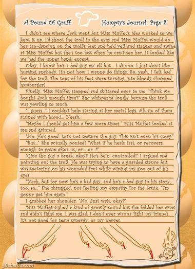 """A Pound Of Gruff"": Humpty's Journal, Pg. 8"
