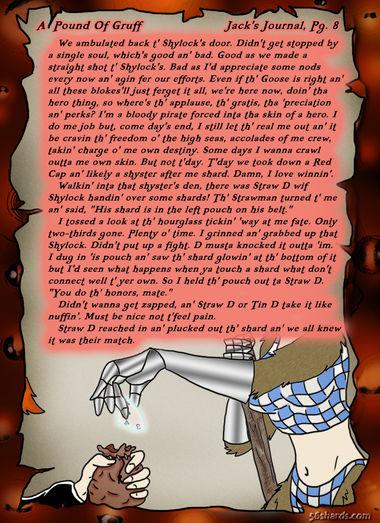 """A Pound Of Gruff"": Jack's Journal, Pg. 8"