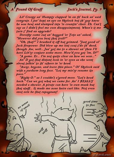"""A Pound Of Gruff"": Jack's Journal, Pg. 9"