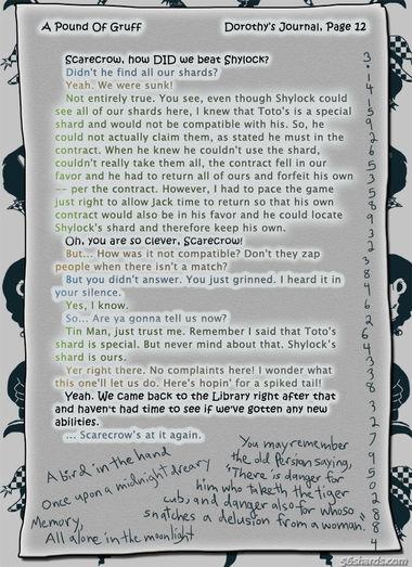 """A Pound Of Gruff"": Dorothy's Journal, Pg. 12"