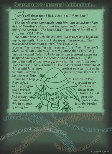 """A Pound Of Gruff"": Internal monologue – Scarecrow"