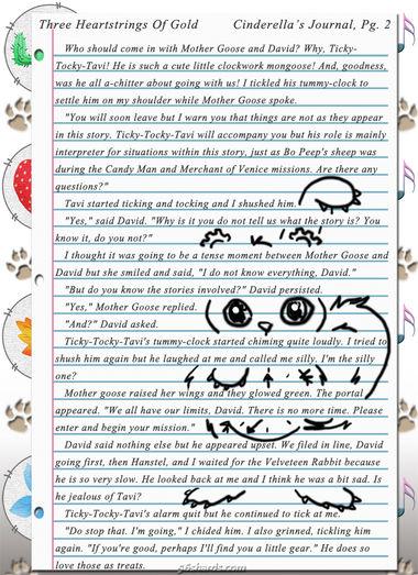 """Three Heartstrings Of Gold"" 9: Cinderella's Journal, Pg. 2"