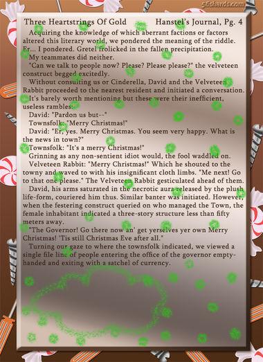 """Three Heartstrings Of Gold"" 13: Hanstel's Journal, Pg. 4"