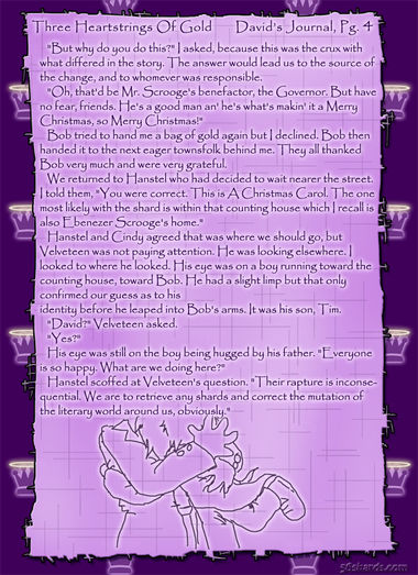 """Three Heartstrings Of Gold"" 15: David's Journal, Pg. 4"