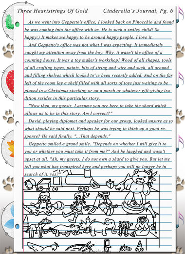 """Three Heartstrings Of Gold"" 20: Cinderella's Journal, Pg. 6"