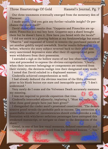 """Three Heartstrings Of Gold"" 27: Hanstel's Journal, Pg. 7"