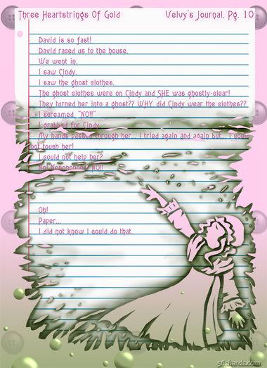 """""""Three Heartstrings Of Gold"""" 40: Velvy's Journal, Pg. 10"""