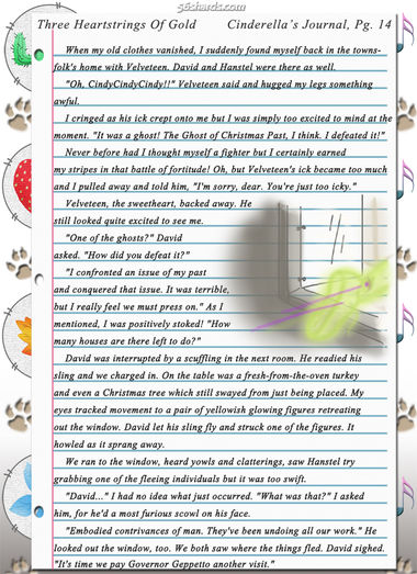 """Three Heartstrings Of Gold"" 44: Cinderella's Journal, Pg. 14"