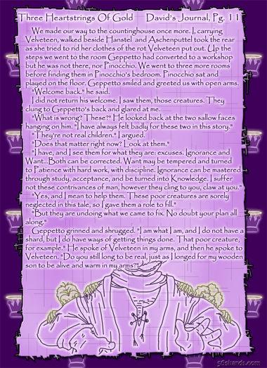 """Three Heartstrings Of Gold"" 45: David's Journal, Pg. 11"