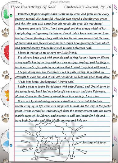 """Three Heartstrings Of Gold"" 50: Cinderella's Journal, Pg. 16"