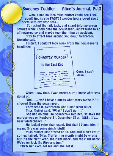 """Sweeney Toddler"" 10: Alice's Journal, Pg. 3"