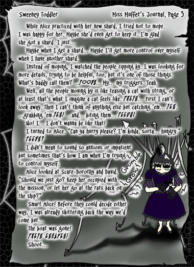 """Sweeney Toddler"" 13: Miss Muffet's Journal, Pg.3"