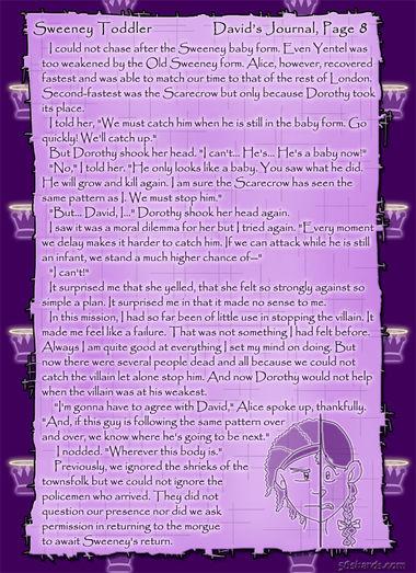 """Sweeney Toddler"" 36: David's Journal, Pg.8"