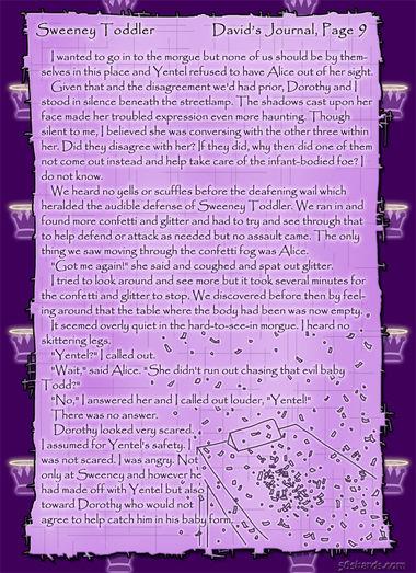 """Sweeney Toddler"" 39: David's Journal, Pg.9"