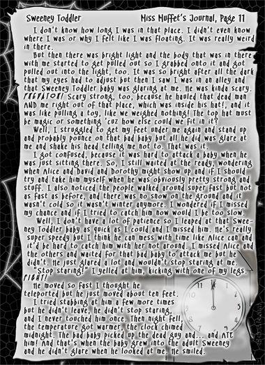 """Sweeney Toddler"" 41: Miss Muffet's Journal, Pg.11"