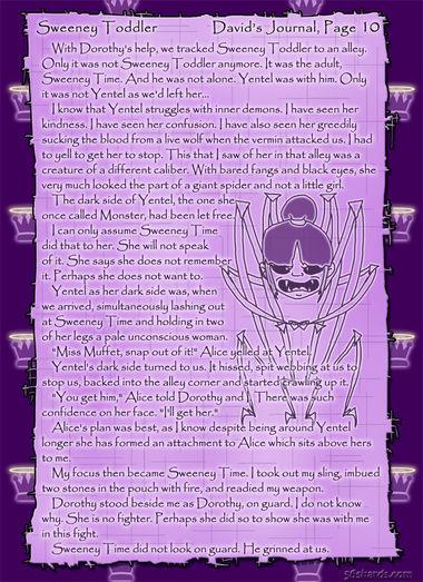 """Sweeney Toddler"" 43: David's Journal, Pg.10"