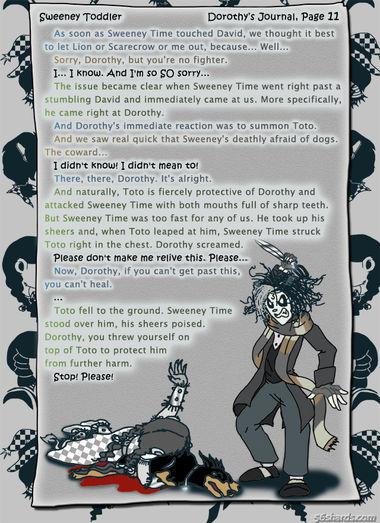 """""""Sweeney Toddler"""" 46: Dorothy's Journal, Pg.11"""