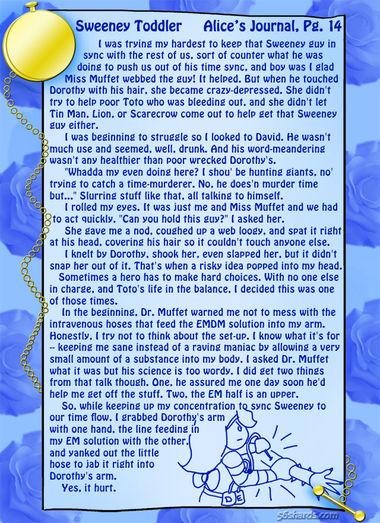 """Sweeney Toddler"" 49: Alice's Journal, Pg.14"