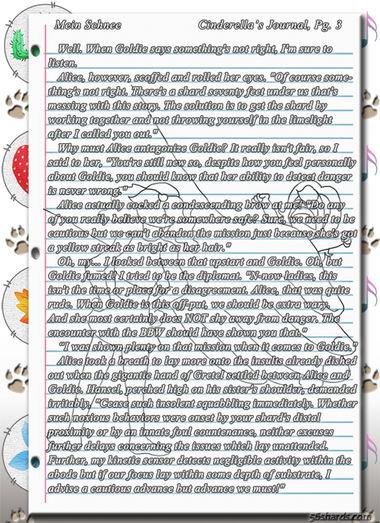 """""""Mein Schnee"""" 11: Cinderella's Journal, Pg.3"""