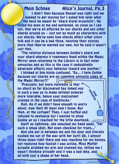 """""""Mein Schnee"""" 12: Alice's Journal, Pg.3"""