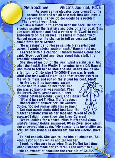 """""""Mein Schnee"""" 21: Alice's Journal, Pg.5"""