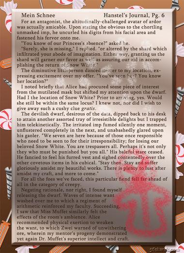 """""""Mein Schnee"""" 28: Hanstel's Journal, Pg.6"""