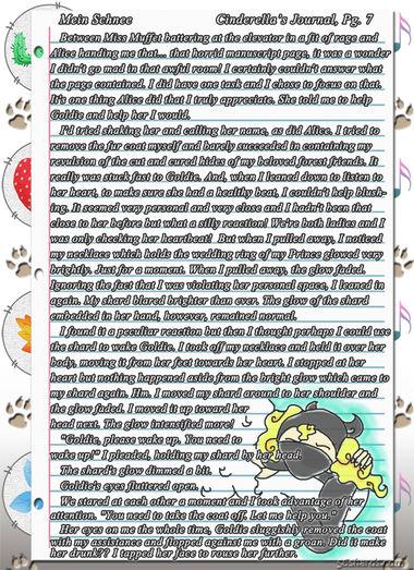 """""""Mein Schnee"""" 29: Cinderella's Journal, pg.7"""