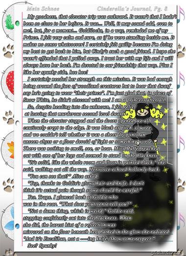 """""""Mein Schnee"""" 34: Cinderella's Journal, Pg.8"""