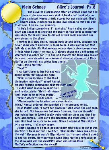 """""""Mein Schnee"""" 36: Alice's Journal, Pg.8"""