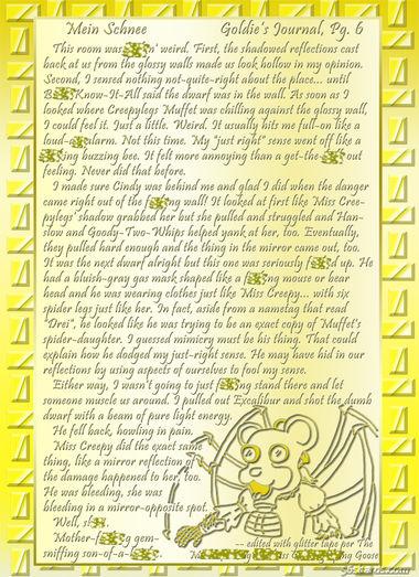 """""""Mein Schnee"""" 38: Goldie's Journal, Pg.6"""