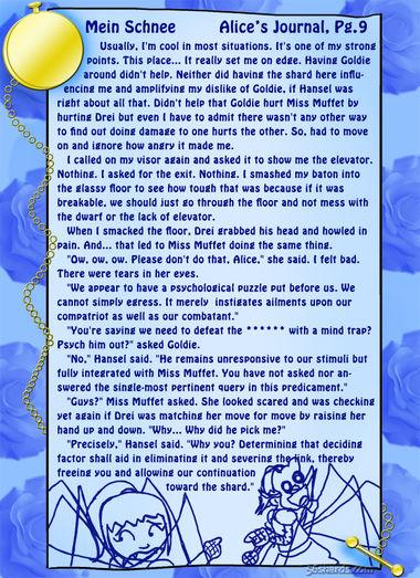 """""""Mein Schnee"""" 42: Alice's Journal, Pg.9"""