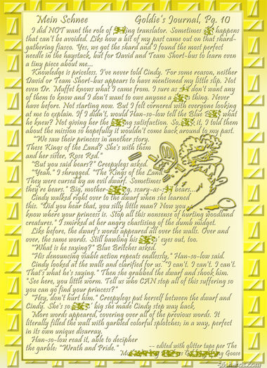 """""""Mein Schnee"""" 51: Goldie's Journal, Pg.10"""