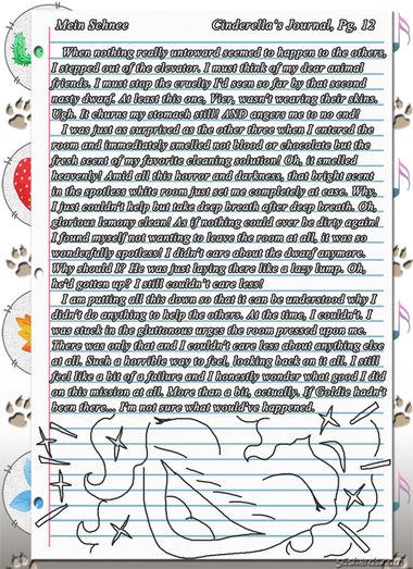 """""""Mein Schnee"""" 56: Cinderella's Journal, Pg.12"""