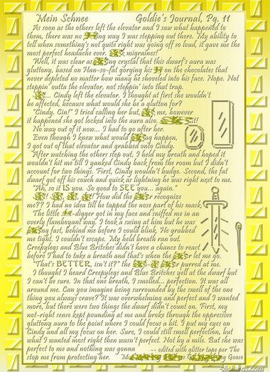 """""""Mein Schnee"""" 57: Goldie's Journal, Pg.11"""