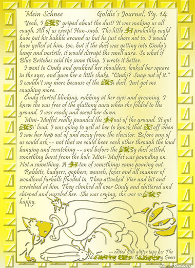 """""""Mein Schnee"""" 67: Goldie's Journal, Pg.14"""