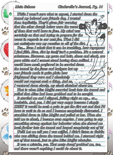 """""""Mein Schnee"""" 72: Cinderella's Journal, Pg.14"""