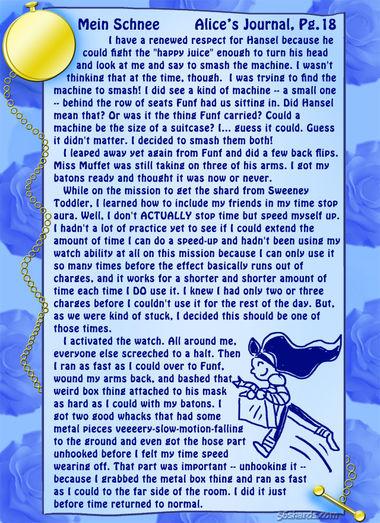 """""""Mein Schnee"""" 82: Alice's Journal, Pg.18"""