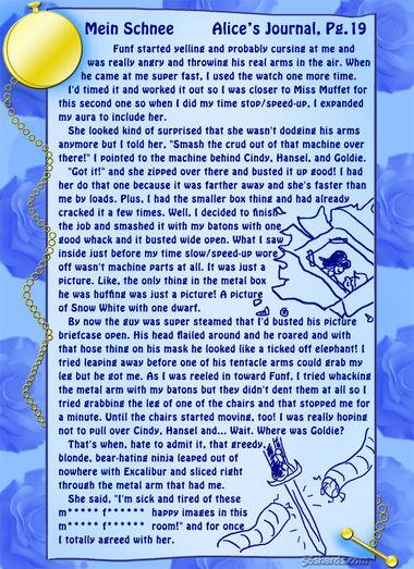 """""""Mein Schnee"""" 83: Alice's Journal, Pg.19"""