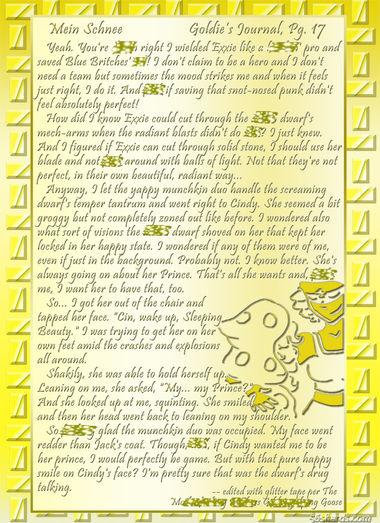 """""""Mein Schnee"""" 84: Goldie's Journal, Pg. 17"""