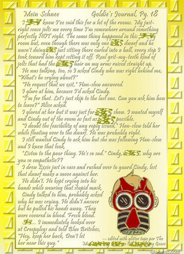 """""""Mein Schnee"""" 88: Goldie's Journal, Pg.18"""