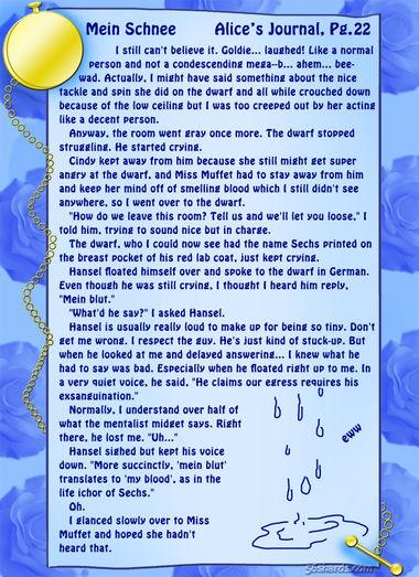 """""""Mein Schnee"""" 98: Alice's Journal, Pg.22"""