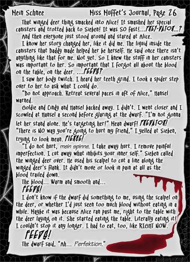 """""""Mein Schnee"""" 117: Miss Muffet's Journal, Pg.26"""