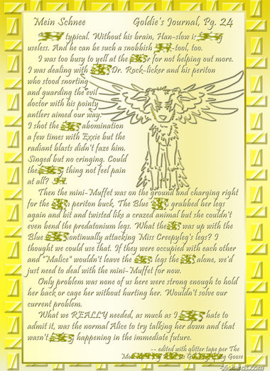 """""""Mein Schnee"""" 121: Goldie's Journal, Pg.25"""