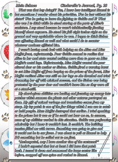 """""""Mein Schnee"""" 122: Cinderella's Journal, Pg.23"""