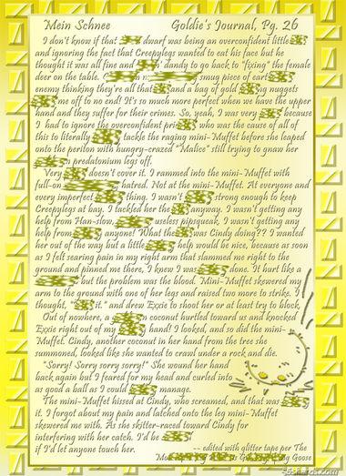 """""""Mein Schnee"""" 124: Goldie's Journal, Pg.26"""